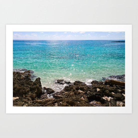The Rocky Sea Shores of Cayman Island Art Print