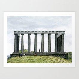National Monument, Edinburgh Art Print