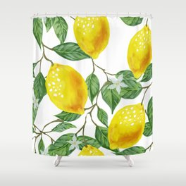 TROPICAL LEMON TREE Shower Curtain