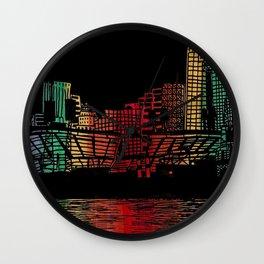 Cincinnati Nights Wall Clock