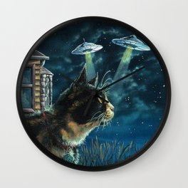 Alien Invasion Wall Clock