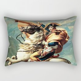 France's Napoleon Crossing the Alps Rectangular Pillow