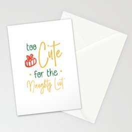 Too Cute for the Naughty List Stationery Cards