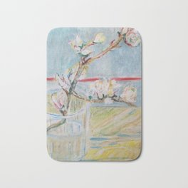 Almond blossoms in the glass Bath Mat