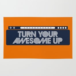 Turn Your Awesome Up! Rug