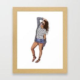 Cool Chick Off Duty Framed Art Print