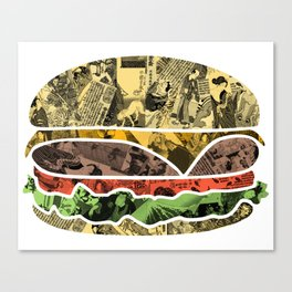 The Rising Burger Canvas Print