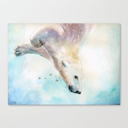 Swimming Canvas Print