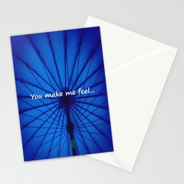 Blue Umbrella: You make me feel... Stationery Cards