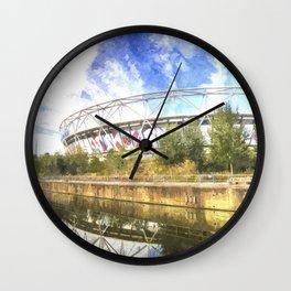 West Ham Olympic Stadium Art Wall Clock
