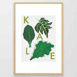 Eat Your Veggies - Kale Framed Art Print