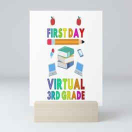 Happy First Day of Virtual 3rd Grade Kids Online Teaching Mini Art Print