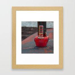Oil Tank Gauge Framed Art Print