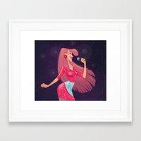 jem Framed Art Prints featuring Jem by Samantha Youssef
