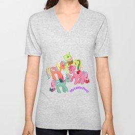 g1 my little pony twinkle eye unicorns Unisex V-Neck