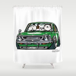 Crazy Car Art 0142 Shower Curtain