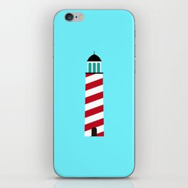 Lighthouse in red an white iPhone Skin