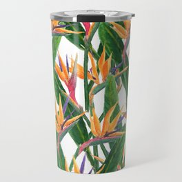 bird of paradise pattern Travel Mug