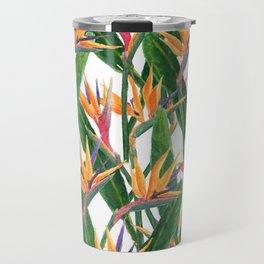 bird of paradise pattern Travel Mug
