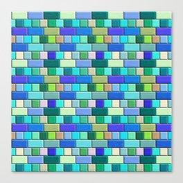 Sapphire Blue  Tiles Canvas Print