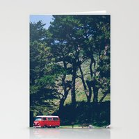 vw bus Stationery Cards featuring Cali VW Bus by Petrichor Photo