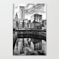 liverpool Canvas Prints featuring Liverpool Reflection by Caroline Benzies Photography