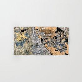 Kuniyoshi Utagawa, The ghost of Taira Tomomori, Daimotsu bay Hand & Bath Towel