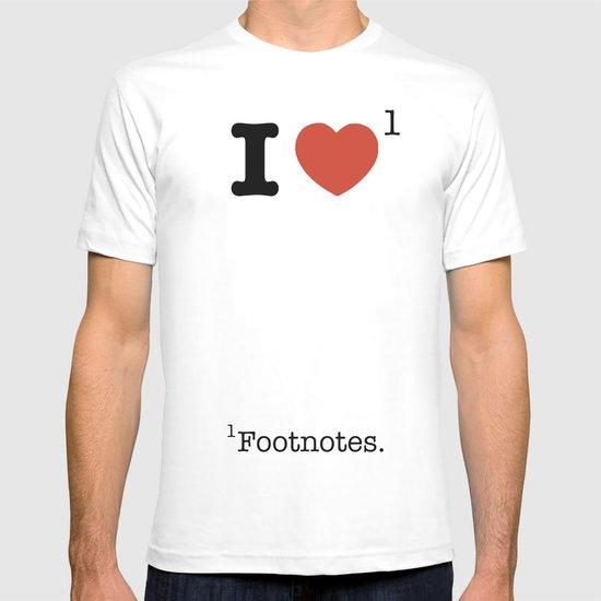 I Heart Footnotes T-shirt