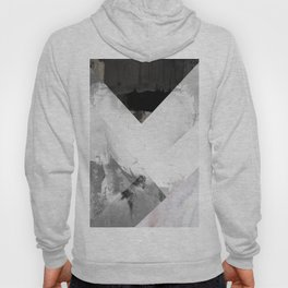 Marble black and white texture illustration art print gray scale Hoody