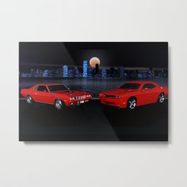 The Cuda and The Challenger Metal Print