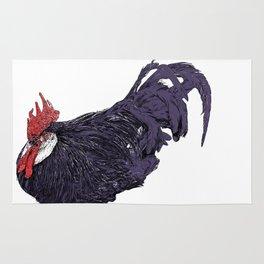 Black Rooster Rug