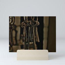 Hanging Keys-Brown Mini Art Print