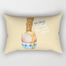 Un Oeuf With All The Food Puns Rectangular Pillow