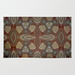 Whirling spirals in earthy early painting style Rug