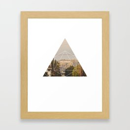 Hollywood Sign - Geometric Photography Framed Art Print