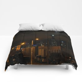 Full Chicago Moonscape Comforters