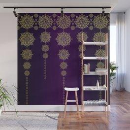 Violet & Gold Mandala Medallions Wall Mural