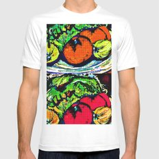 Remember to Eat Your Veggies White MEDIUM Mens Fitted Tee
