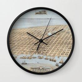 Galveston, Texas 1871 Wall Clock