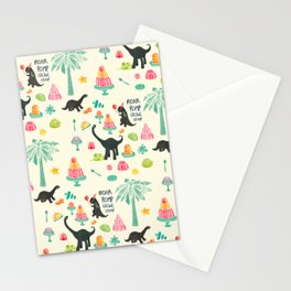 Jellosaurus Rex: Jello Dino Party Stationery Cards