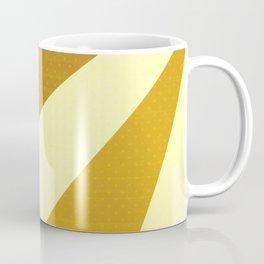 Cream, Mustard and Brown Triangles and Polka Dots Coffee Mug