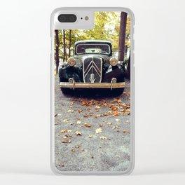 Car In Fall Clear iPhone Case