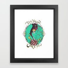 Tis the Season to Sneak a Peek Framed Art Print