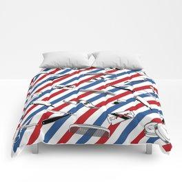 Barber Shop Pattern Comforters