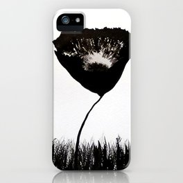 Black Poppies / Ink Painting iPhone Case
