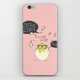 #Hatched Pink iPhone Skin