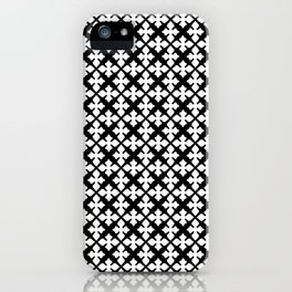 Heidi - Black and White Pattern iPhone Case