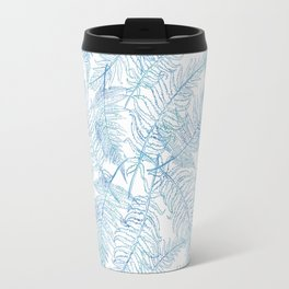 Fern Silhouette Blue Travel Mug
