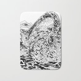 Lake Monster Bath Mat