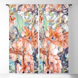 Aquarell Floral 05 Blackout Curtain